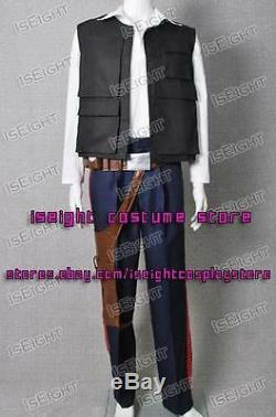 Star Wars A New Hope Han Solo ANH Costume Vest Shirt Pants Uniform Custom-Made