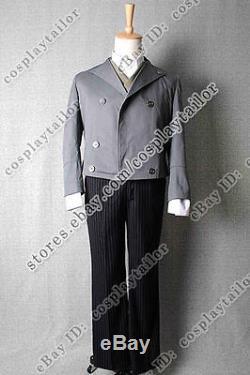 Sweeney Todd Cosplay Johnny Depp Costume Jacket Vest Shirt Pants Suit Uniform