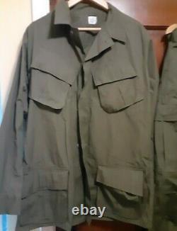 TROPICAL VIETNAM 69' UNIFORM military SET POPLIN Jungle Fatigue PANTS and SHIRT