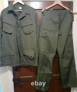 TROPICAL VIETNAM 69 UNIFORM military rip STOP POPLIN tropical PANTS SHIRT ARMY
