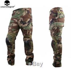 Tactical Combat Uniform Shirt & Pant Set G2 Hunting Clothes Military Airsoft Men