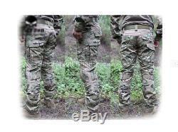 Tactical Emerson Hunting Men Gen2 G2 Combat Uniform Shirt &Pants Suit w Pads MC
