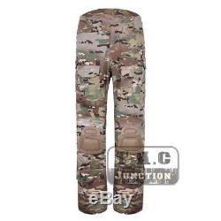 Tactical Emerson Women BDU G3 Combat Uniform Shirt & Pants + Knee Pads Multicam
