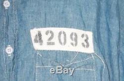 The Shawhank Redemption (1994) Prison Uniform Blue Denim Shirt Denim Pants