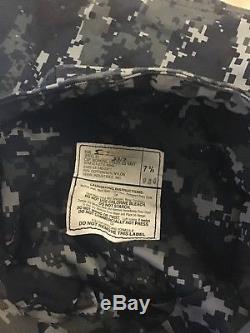 U. S Navy LCDR Digital Blue Camo Gore-Tex Parka, Hat, Shirt, Pants All Large-Long