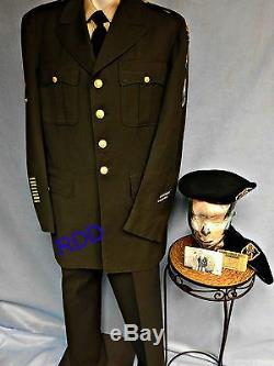 US ARMY CLASS A DRESS UNIFORM SPECIAL FORCES withJACKET PANTS SHIRT with2 BERETS