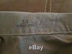 US Air Force Vietnam 1974 Uniform 14 Tan Shirt 1505 28x29 Pants Military