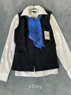 US Airways/American Airlines Stewardess Uniform Shirts, Vest, Skort, Scarf, Pants