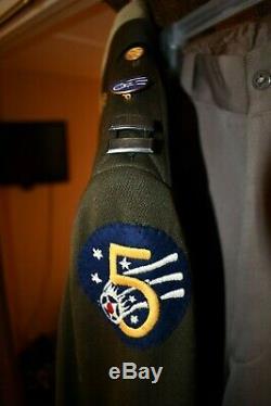 US Army Air Force Officer WW2 Dress Uniform Pinks Greens Jacket Shirt Tie Pants