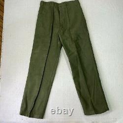 US Army Cotton Sateen Uniform OG-107 Utility Pant Trouser Shirt Green Combat 70s