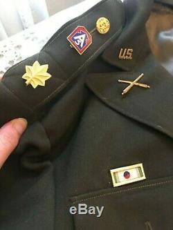 US Army Officer WW2 Dress Uniform Pinks & Greens Hat Jacket Shirt Pants Shoes