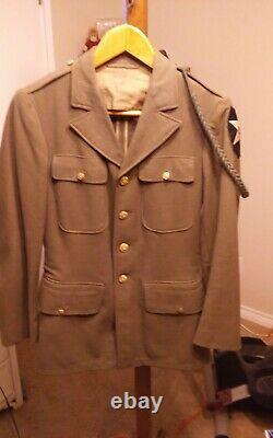 US Army WWII 2nd Infantry Division Wool Jacket with shirt + trousers pants