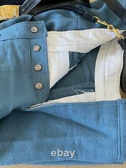 US Civil War Union Officer's Outfit Colonel Tunic/Pants/Belt/Shirt XL