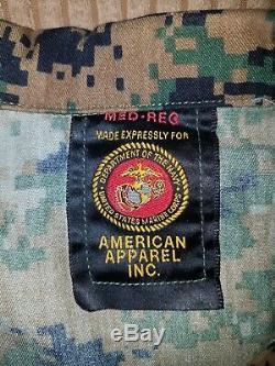 US Military MARPAT USMC digital woodland camo pants and shirt 2 sets with tags