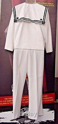 US NAVY uniform shirt white sailor long sleeve with PantsCostume Theater