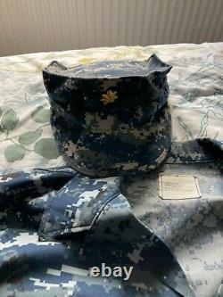 US Navy officers Digital Camouflage Blue Uniform shirt cap and pants large
