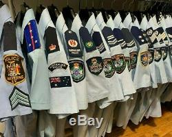 US Police Uniform Shirt with Patches, Sergeant Ranks & Pants USA NY Malverne