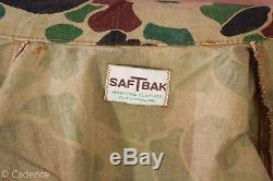 US Vietnam Era Saf T Bak Duck Hunter Camo Uniform Shirt Pants Vet Estate! Mint