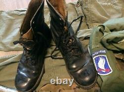 US airborne lot Helmet, pants, 173rd/82nd shirt, basic load m1956 gear, j boots