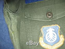 USAF Chief Master Sergeant Vietnam Era Utility Fatigues Sateen Shirt and Pants