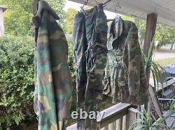 USMC Camo Long Sleeve Shirts Cargo Pants Gloves L Vintage