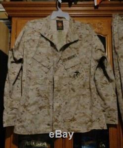 USMC MARPAT DESERT TAN Combat SHIRT PANT SET MCCUU X LARGE REGULAR ISSUED XL