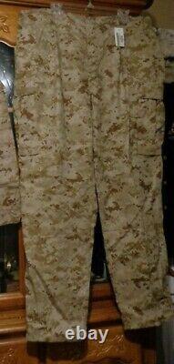 USMC MARPAT Uniform DESERT Combat Shirt Pant X LARGE REGULAR XLR NEW WITH TAG