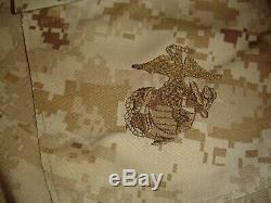 USMC MARPAT Uniform DESERT SET Combat Shirt Pant X LARGE REG NEW WITH TAG NWT