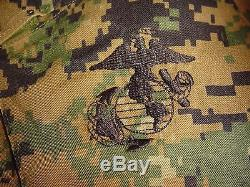 USMC MARPAT Uniform WOODLAND Combat Shirt & Pants in size LARGE Regular LR NWOT