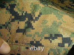 USMC MARPAT Uniform WOODLAND Combat Shirt & Pants in size MEDIUM X LONG MXL