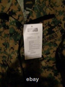 USMC MARPAT Uniform WOODLAND Combat Shirt & Pants in size SMALL SHORT NWT SS