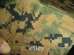 USMC MARPAT Uniform WOODLAND Combat Shirt & Pants size X LARGE Regular XLR NWT