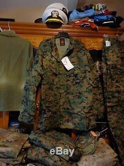 USMC MARPAT Uniform WOODLAND SET Combat Shirt Pant LARGE LONG LL NEW WITH TAG
