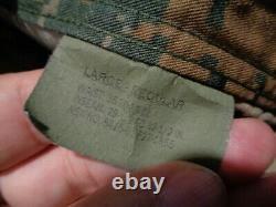 USMC MARPAT Uniform WOODLAND SET Combat Shirt Pant LARGE REGULAR LR NEW WITH TAG
