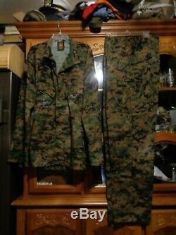 USMC MARPAT Uniform WOODLAND SET Combat Shirt Pant X LARGE LONG NEW With OUT TAG