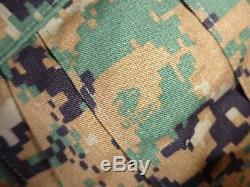 USMC MARPAT Uniform WOODLAND SET Combat Shirt Pant X LARGE LONG SET ISSUED