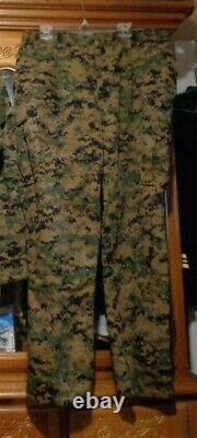 USMC MARPAT Uniform WOODLAND SET Combat Shirt Pant X LARGE REGULAR SET ISSUED