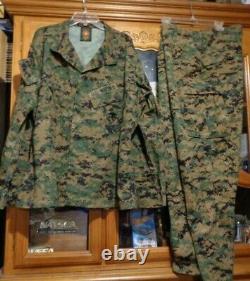 USMC MARPAT Uniform WOODLAND SET Combat Shirt Pant X LARGE REGULAR XL ISSUED