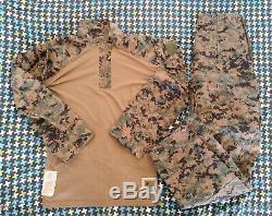 USMC MARPAT Uniform Woodland Combat FROG Shirt & Pants Medium Regular MR