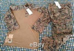 USMC MARPAT Uniform Woodland Combat FROG Shirt & Pants Small Reg NEW