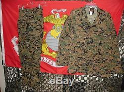 USMC MARSOC MARPAT Woodland Combat Uniform Shirt & Pants in Medium Regular NEW