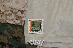 USMC Marines Desert MARPAT Defender M DriFIRE FROG Combat Shirt Pants MED R NEW