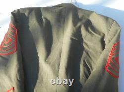 USMC SGT MAJ Tunic Pants And Shirt Set Size 40 Reg Dated 1970