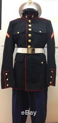 USMC Us Marine Corps Uniform Rank PFC Hat/Jackets/Shirts/Pants/Belts