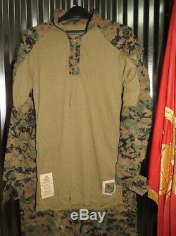 USMC Woodland MARPAT FROG Shirt &n Pants Medium Regular Marine Combat Uniform