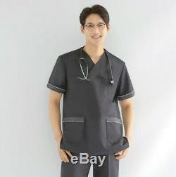 Uniform Set V neck Shirt+Pants Physical Therapist Operation PT Hospital Social