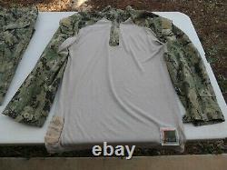 Us Navy Seals Usn Frog Nwu Woodland Shirt & Trousers Pants Medium Regular