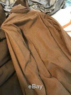 Us army ww2 uniform, pants shirt, tie and jacket/ ruptured duck, brass attached