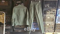 VINTAGE USMC Shirt & Pants MGM Writer Lionel Lober Owned Fatigues
