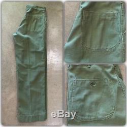 VTG 1956 USMC Gomer Pyle Stencil Marine Corps Utility Shirt Pants Set Sateen 50s